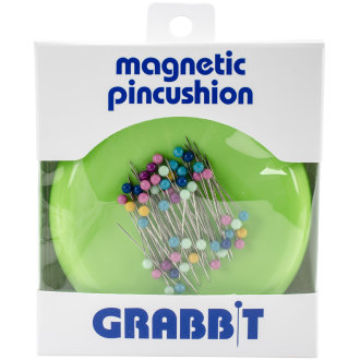 Grabbit Magnetic Pincushion W/50 Pins-Lime