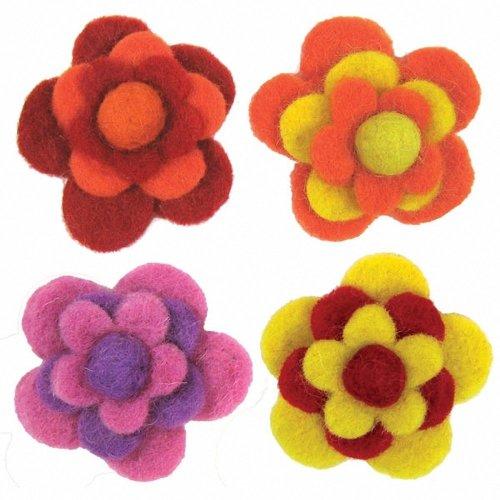 D72-73827 - Dimensions Wool Felt - Layered Warm Flowers (x4)