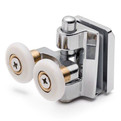 2 x Twin Bottom Zinc Alloy Shower Door Rollers/Runners/Spares 20mm Wheels L090