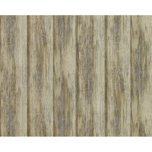 EDEM 944-28 non-woven wallpaper shabby textured wood planks green olive 10.6 m2