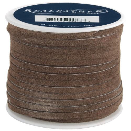 """Realeather Crafts Suede Lace .125""""X25yd Spool-Cafe"""