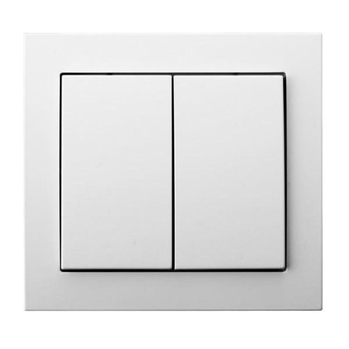 Double Big Button Indoor Light Switch Click Wall Plate