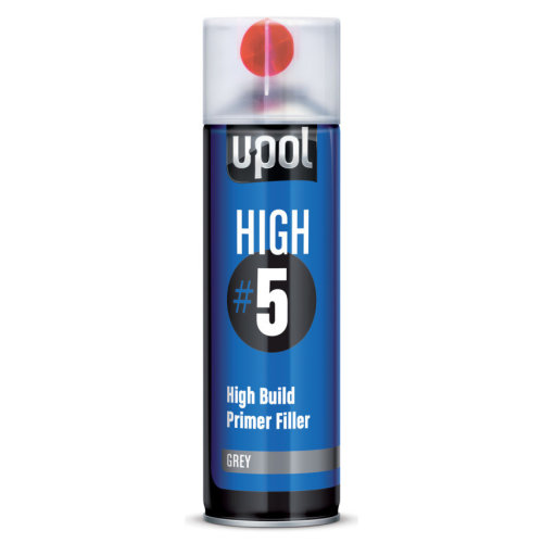 Upol HIGH 5 High Build Primer Grey - Aerosol 450ml