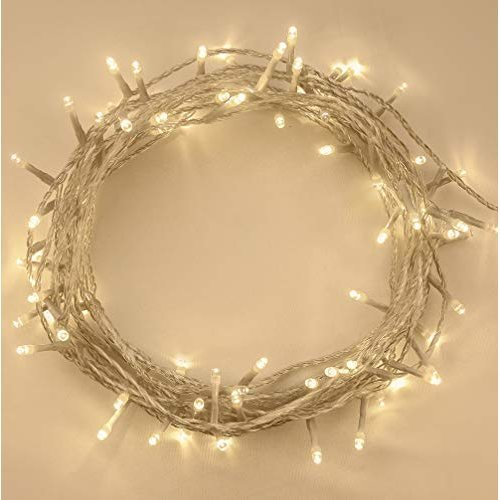 Christmas Lights 200 LED Warm White Tree Lights Indoor and Outdoor use Christmas String Lights with Memory function, Mains Powered Fairy Lights...