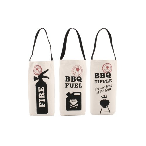3 Assorted Dad's Canvas BBQ Bottle Bags
