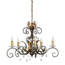 Bronze/Gold 5lt Chandelier - 5 x 60W E14 by Happy Homewares