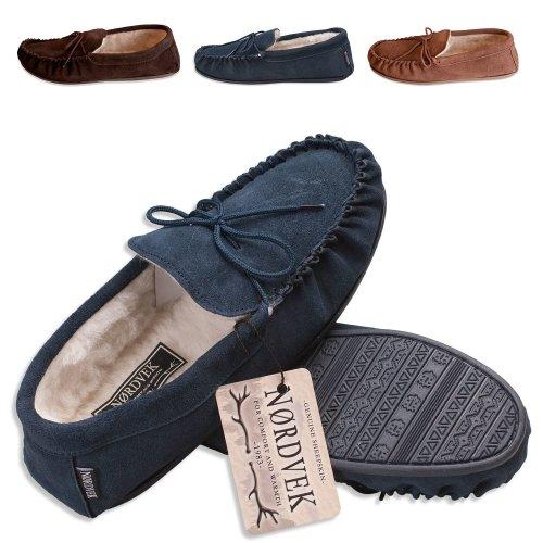 d7d0f447d9fe3 Nordvek Sheepskin Slippers Women - Soft Suede Sole Moccasins # 430-100 on  OnBuy
