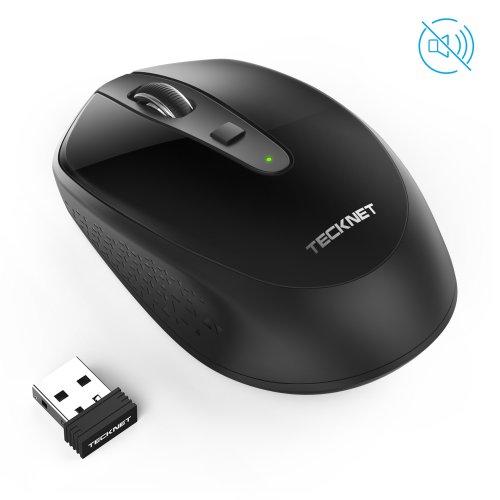 Silent Wireless Mouse TeckNet Omni Mini 2.4G Noiseless USB Optical Laptop