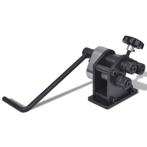 vidaXL Manual Roll Bending Machine Cast Iron Workbench Rolling Bender Tool