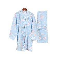 Beautiful Floral Women Pajamas Suit Fall & Winter Cotton Thick Pajamas Bathrobe