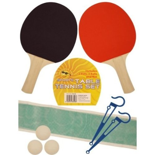 Henbrandt Table Tennis Game Set - 2 Ball 3 Bats Party Ping Pong Net Player -  table tennis 2 set game ball 3 bats party ping pong net player