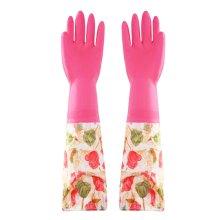 Waterproof Gloves Velvet Warm Cleaning Gloves Dish Washing Gloves -01