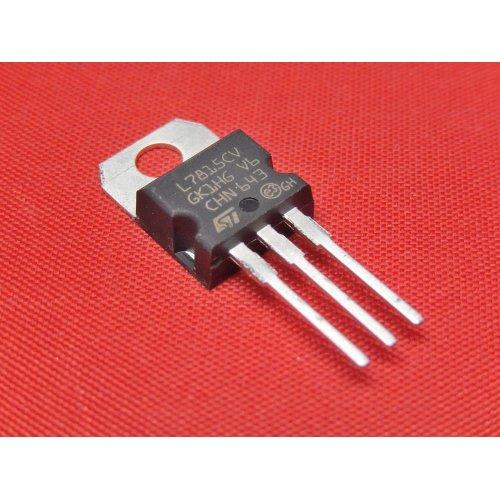 Voltage Regulators L7815CV +15Vdc TO-220 package PACK of 5