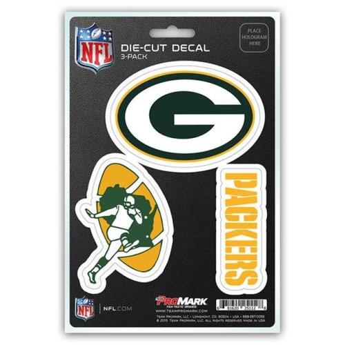 Pro Mark DST3NF12 Green Bay Packers Decal - Pack of 3
