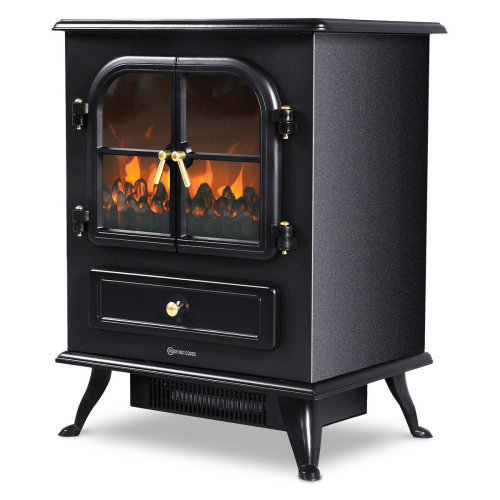 Large Free Standing Electric Fireplace Stove Heater