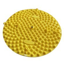 Round Foot Massager Therapy Mat Foot Massage Pad Shiatsu Sheet [Yellow]