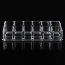 12 Grid Cosmetic Mascara Lipstick Holder Clear Acrylic Storage Case