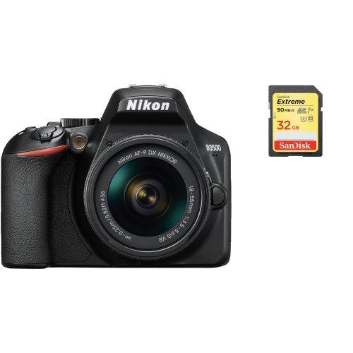 NIKON D3500 KIT AF-P 18-55mm F3.5-5.6G VR + SanDisk Extreme 32G SD