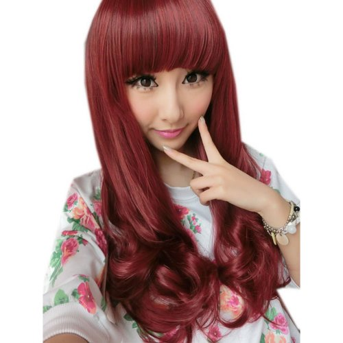 Long Curly Wig for Women Red Hair Weave