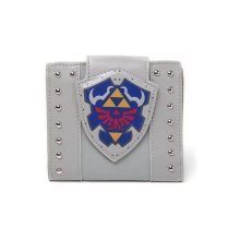 Nintendo Legend of Zelda Hylian Shield Bi-Fold Wallet Coin Pouch - Grey