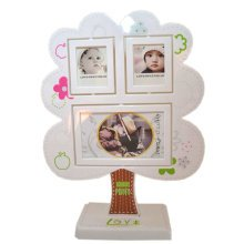 Creative Combination Table-top Frames Tree Decor Resin Photo/Frames White