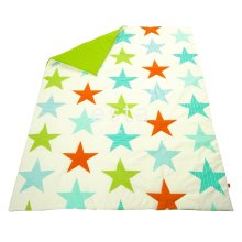 quilt stars lime green and orange - 154657