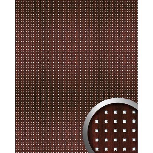 WallFace 10059 3D QUAD Wall panel square decor hole wood look mahogany 2.60 sqm