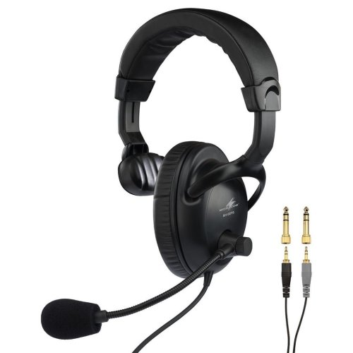 Headset - Professional Mono Headphone With Dynamic Boom Microphone