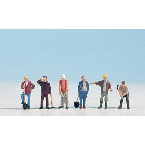 Construction Workers (6) - OO/HO figures - Noch 15110 - free post