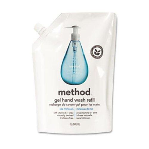 Method 00653 Refill for Gel Handwash- 34 oz. Plastic Pouch- Sea Minerals