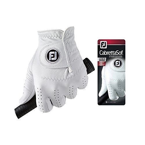 Footjoy CabrettaSof - Golf Gloves for Left Hand Color, White, Size L