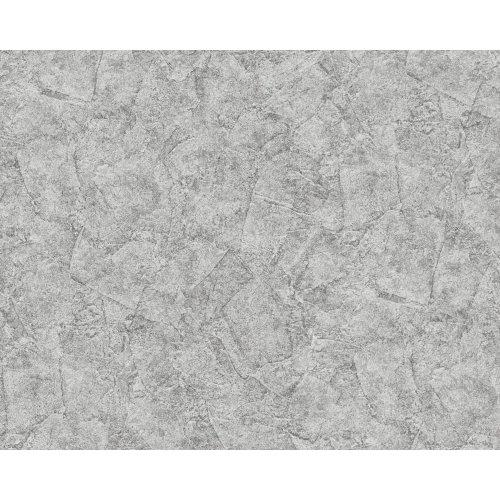EDEM 9077-27 Plaster look wallpaper shiny silver grey 10.65 sqm