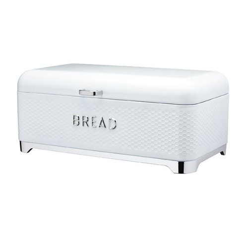 Lovello Retro Ice White Textured Bread Bin