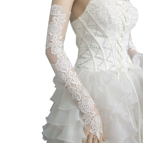 Bridal Wedding Gloves Party Dress Lace Long Gloves A11