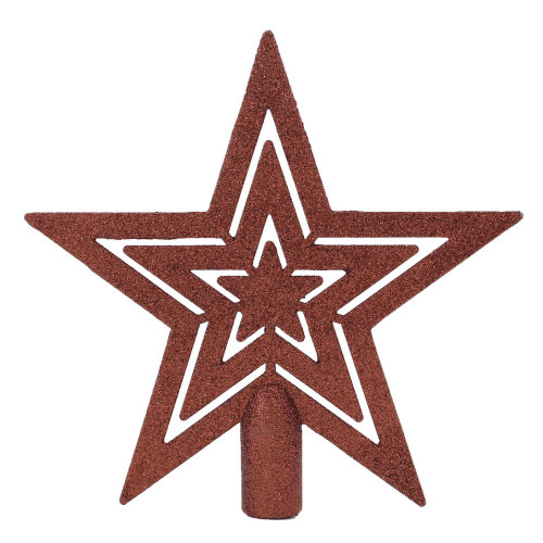 Christmas Tree Decoration 190mm Tree Topper Star Brown