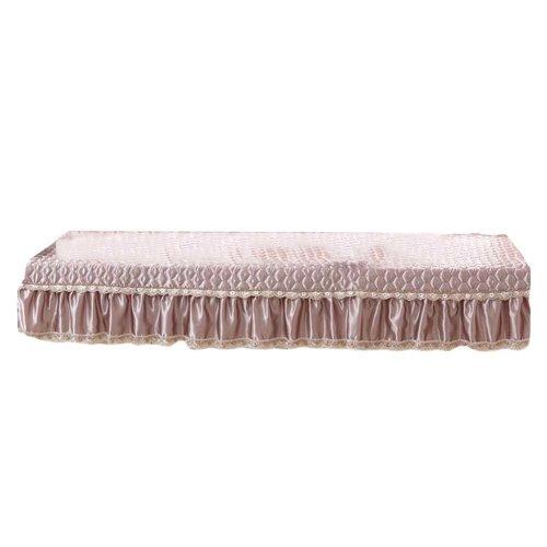 [Khaki] Bay Window Mats Window Bench Mat Sofa Cover, No Cushions, 27x47inch