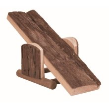 Trixie Natural Living Seesaw, 22 x 7 x 8cm - Seesaw Hamster 8cm Wood Toy -  seesaw natural trixie living hamster 22 7 8 cm wood toy