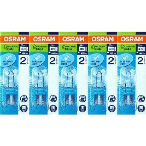 Osram Halopin 66733 Energy Saver G9 Halogen Bulbs 33 Watts/230 Volt Pack of 5