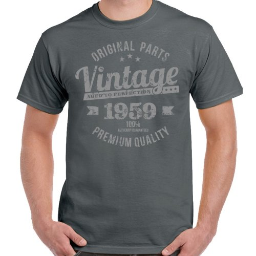Vintage Year 1959 Premium Quality Mens 60th Birthday T Shirt 60 Old Gift On OnBuy