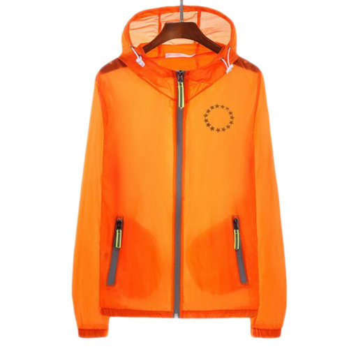 Waterproof Luminous Sun Protective Feather Clothing Cycling Climbing Long Sleeve Shirts-Orange