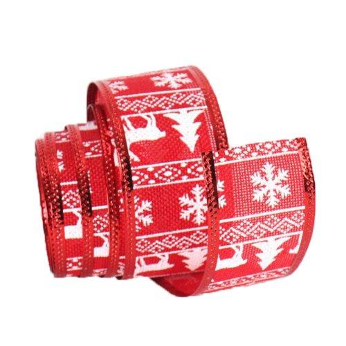 [Red] Party Supply Home Christmas Decor Ribbon DIY Ribbon