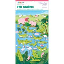Crocodiles Fabric Felt Sticker Pack - Stickers Crocodile African Animals Hippo -  felt stickers crocodile african animals hippo flamingo chameleon