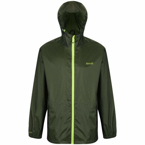 Regatta Men's Pack It III Waterproof Shell Jacket, Racing Green, Large