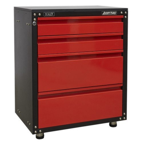 Sealey APMS84 Modular 4 Drawer Cabinet with Worktop 665mm