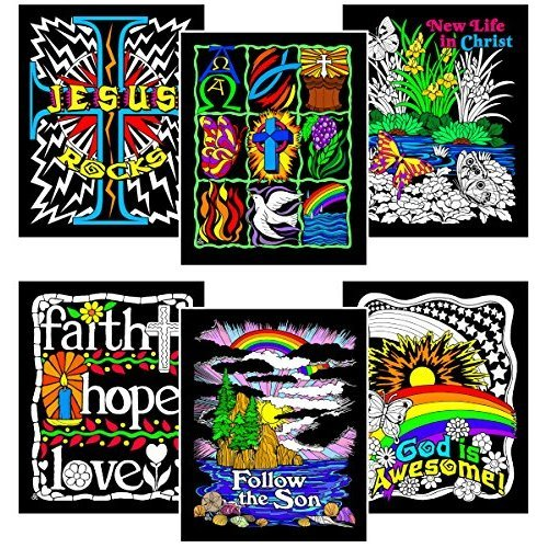 Faith Bundle - Includes 6 Fuzzy Velvet Coloring Posters on OnBuy
