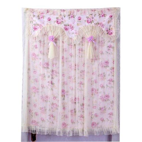 90x120 cm Beautiful  Flower Pattern Elegance Lace Door Curtain