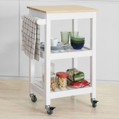 SoBuy® FKW67-WN, Kitchen Storage Trolley Serving Trolley Kitchen Shelf