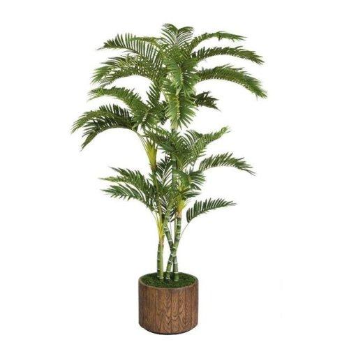 Minx NY VHX112202 Laura Ashley 77 in. Tall Palm Tree in 16 in. Fiberstone Planter