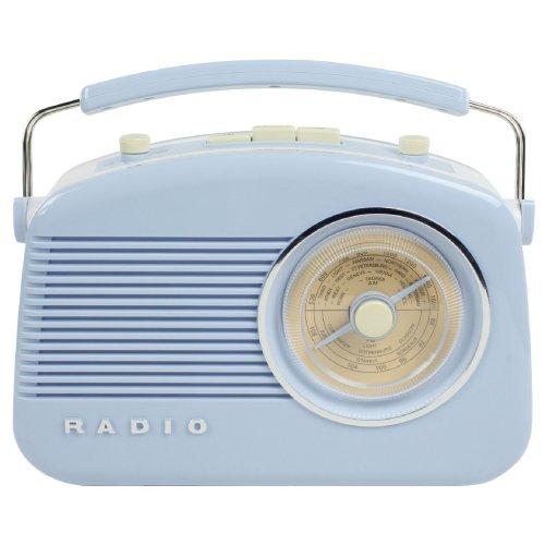 Konig Stylish Retro Table Radio - Baby Blue