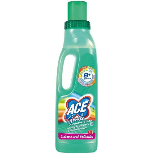 ACE Gentle Laundry Stain Remover for Colours & Whites, Clothes, Silk - 1 Litre